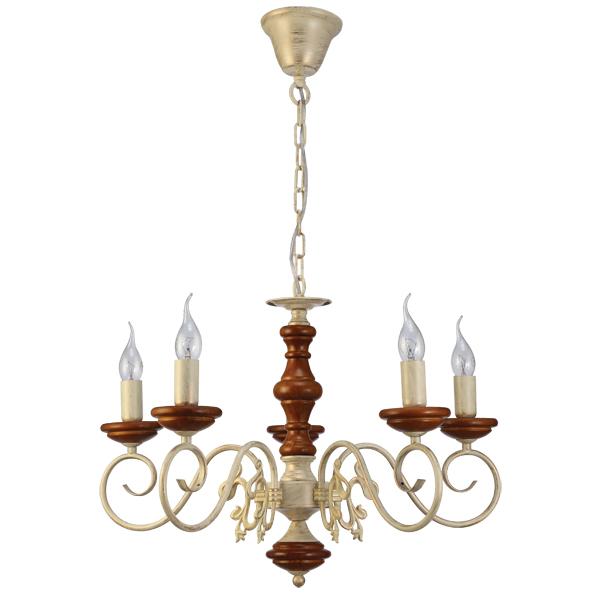 Люстра Natali kovaltsevaЛюстры<br>Назначение светильника: для гостиной,<br>Стиль светильника: классика,<br>Тип: подвесная,<br>Материал светильника: металл,<br>Материал арматуры: металл,<br>Диаметр: 600,<br>Высота: 400,<br>Количество ламп: 5,<br>Тип лампы: накаливания,<br>Мощность: 40,<br>Патрон: Е14,<br>Цвет арматуры: белый,<br>Коллекция: LUXURY WOOD<br>