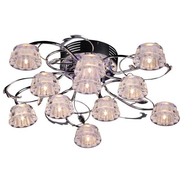 Люстра Natali kovaltsevaЛюстры<br>Назначение светильника: для гостиной,<br>Стиль светильника: хай-тек,<br>Тип: потолочная,<br>Материал светильника: металл, хрусталь,<br>Материал плафона: хрусталь,<br>Материал арматуры: металл,<br>Диаметр: 70,<br>Высота: 130,<br>Количество ламп: 11,<br>Тип лампы: галогенная,<br>Мощность: 20,<br>Патрон: G4,<br>Цвет арматуры: хром,<br>Коллекция: серия 88<br>
