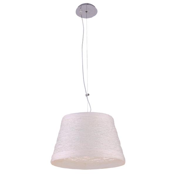 Люстра Natali kovaltsevaЛюстры<br>Назначение светильника: для гостиной,<br>Стиль светильника: хай-тек,<br>Тип: потолочная,<br>Материал светильника: металл, ткань,<br>Материал плафона: ткань,<br>Материал арматуры: металл,<br>Диаметр: 360,<br>Высота: 850,<br>Количество ламп: 2,<br>Тип лампы: накаливания,<br>Мощность: 60,<br>Патрон: G4,<br>Цвет арматуры: белый,<br>Коллекция: серия 134<br>