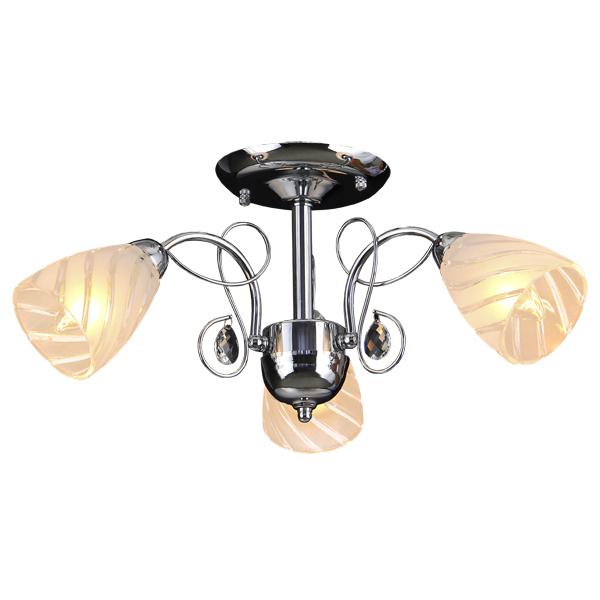 Люстра Natali kovaltsevaЛюстры<br>Назначение светильника: для гостиной,<br>Стиль светильника: хай-тек,<br>Тип: потолочная,<br>Материал светильника: металл, стекло,<br>Материал плафона: стекло,<br>Материал арматуры: металл,<br>Диаметр: 550,<br>Высота: 240,<br>Количество ламп: 3,<br>Тип лампы: накаливания,<br>Мощность: 60,<br>Патрон: Е14,<br>Цвет арматуры: хром,<br>Коллекция: серия 127<br>