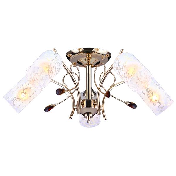 Люстра Natali kovaltsevaЛюстры<br>Назначение светильника: для гостиной,<br>Стиль светильника: классика,<br>Тип: потолочная,<br>Материал светильника: металл, стекло,<br>Материал плафона: стекло,<br>Материал арматуры: металл,<br>Диаметр: 600,<br>Высота: 220,<br>Количество ламп: 5,<br>Тип лампы: накаливания,<br>Мощность: 60,<br>Патрон: Е14,<br>Цвет арматуры: белый<br>