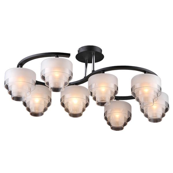 Люстра Natali kovaltsevaЛюстры<br>Назначение светильника: для гостиной, Стиль светильника: классика, Тип: потолочная, Материал светильника: металл, стекло, Материал плафона: стекло, Материал арматуры: металл, Диаметр: 70, Высота: 270, Количество ламп: 8, Тип лампы: галогенная, Мощность: 20, Патрон: G9, Цвет арматуры: коричневый, Родина бренда: Германия, Коллекция: серия 166<br>