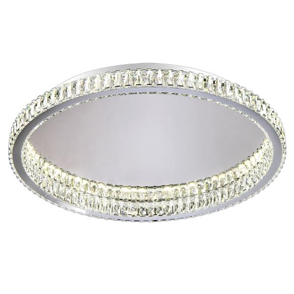 Люстра Natali kovaltsevaЛюстры<br>Назначение светильника: для гостиной,<br>Стиль светильника: классика,<br>Тип: потолочная,<br>Материал светильника: металл, хрусталь,<br>Материал плафона: хрусталь,<br>Материал арматуры: металл,<br>Диаметр: 600,<br>Высота: 7.5,<br>Количество ламп: 24,<br>Тип лампы: светодиодная,<br>Цвет арматуры: хром<br>