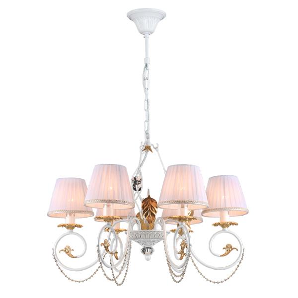 Люстра Natali kovaltsevaЛюстры<br>Назначение светильника: для гостиной,<br>Стиль светильника: классика,<br>Тип: подвесная,<br>Материал светильника: металл, хрусталь,<br>Материал плафона: хрусталь,<br>Материал арматуры: металл,<br>Диаметр: 650,<br>Высота: 480,<br>Количество ламп: 6,<br>Тип лампы: накаливания,<br>Мощность: 60,<br>Патрон: Е14,<br>Цвет арматуры: белый,<br>Коллекция: ROSIE<br>