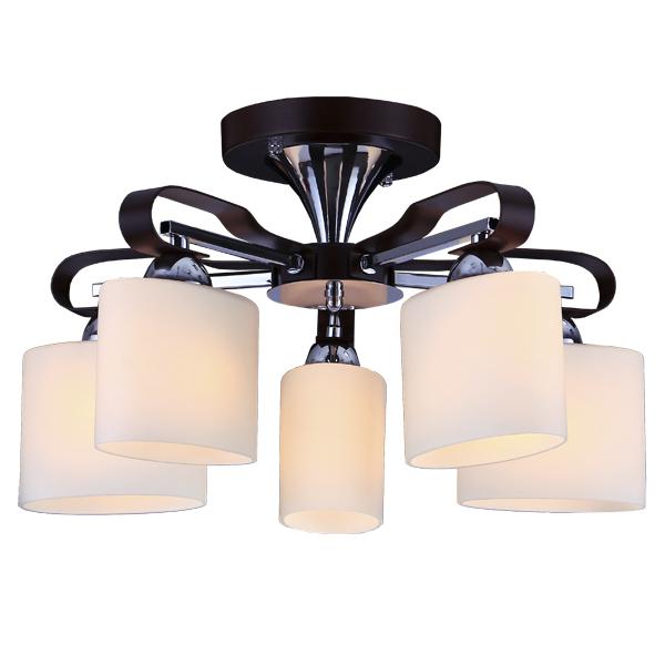 Люстра Natali kovaltsevaЛюстры<br>Назначение светильника: для гостиной,<br>Стиль светильника: модерн,<br>Тип: потолочная,<br>Материал светильника: металл, стекло, дерево,<br>Материал плафона: стекло,<br>Материал арматуры: металл,<br>Диаметр: 460,<br>Высота: 260,<br>Количество ламп: 5,<br>Тип лампы: накаливания,<br>Мощность: 60,<br>Патрон: Е14,<br>Цвет арматуры: хром<br>