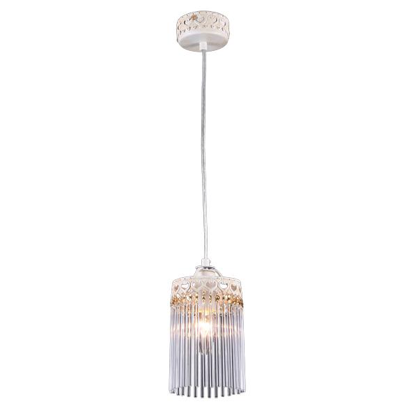 Светильник подвесной Natali kovaltsevaСветильники подвесные<br>Количество ламп: 1,<br>Мощность: 60,<br>Назначение светильника: для комнаты,<br>Стиль светильника: классика,<br>Материал светильника: металл, хрусталь,<br>Диаметр: 100,<br>Высота: 700,<br>Тип лампы: накаливания,<br>Патрон: Е14,<br>Цвет арматуры: белый<br>
