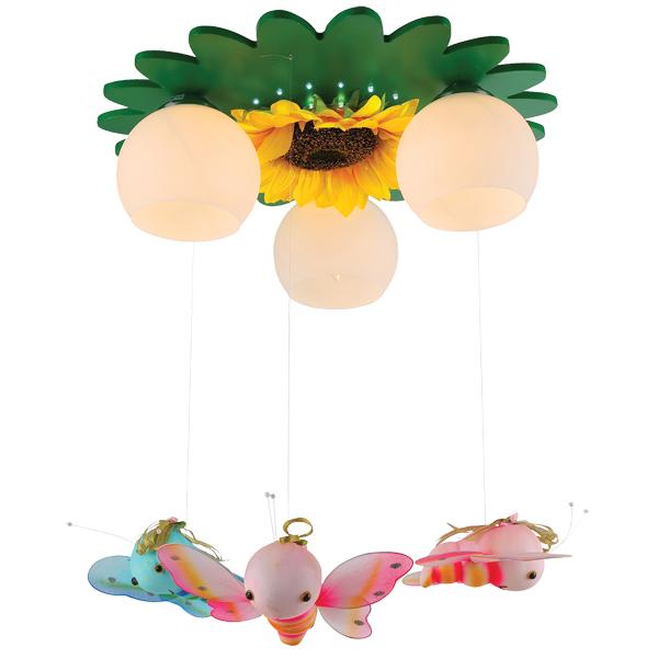 Светильник детский Natali kovaltsevaДетские светильники<br>Тип: настенно-потолочный,<br>Форма/декор детского светильника: бабочка,<br>Цвет детского светильника: зеленый,<br>Материал светильника: металл,<br>Количество ламп: 3,<br>Мощность: 40,<br>Тип лампы: накаливания,<br>Патрон: Е27,<br>Размеры: 550х530х200,<br>Коллекция: серия 72<br>