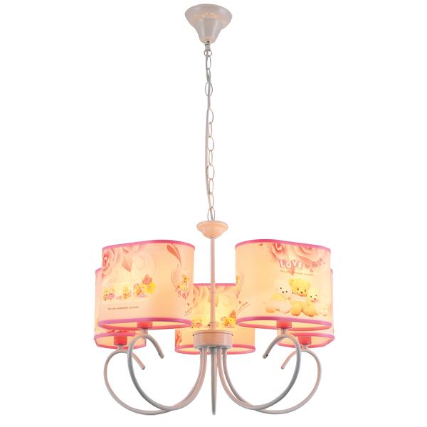 Светильник детский Natali kovaltsevaДетские светильники<br>Тип: подвесной,<br>Форма/декор детского светильника: медвежонок,<br>Цвет детского светильника: желтый,<br>Материал светильника: металл,<br>Количество ламп: 5,<br>Мощность: 40,<br>Тип лампы: накаливания,<br>Патрон: Е14,<br>Размеры: 650х650х100<br>