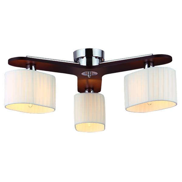 Люстра Natali kovaltsevaЛюстры<br>Назначение светильника: для гостиной, Стиль светильника: модерн, Тип: потолочная, Материал светильника: металл, стекло, дерево, Материал плафона: стекло, Материал арматуры: металл, Диаметр: 600, Высота: 210, Количество ламп: 3, Тип лампы: накаливания, Мощность: 60, Патрон: Е14, Цвет арматуры: хром, Родина бренда: Германия, Коллекция: серия 258<br>