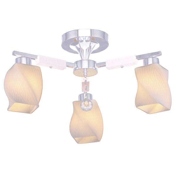 Люстра Natali kovaltsevaЛюстры<br>Назначение светильника: для гостиной, Стиль светильника: модерн, Тип: потолочная, Материал светильника: металл, стекло, дерево, Материал плафона: стекло, Материал арматуры: металл, Диаметр: 550, Высота: 280, Количество ламп: 3, Тип лампы: накаливания, Мощность: 60, Патрон: Е27, Цвет арматуры: хром, Родина бренда: Германия, Коллекция: серия 272<br>