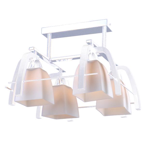 Люстра Natali kovaltsevaЛюстры<br>Назначение светильника: для гостиной,<br>Стиль светильника: модерн,<br>Тип: потолочная,<br>Материал светильника: металл, стекло,<br>Материал плафона: стекло,<br>Материал арматуры: металл,<br>Длина (мм): 420,<br>Ширина: 420,<br>Высота: 300,<br>Количество ламп: 4,<br>Тип лампы: накаливания,<br>Мощность: 60,<br>Патрон: Е27,<br>Цвет арматуры: хром,<br>Коллекция: серия 262<br>