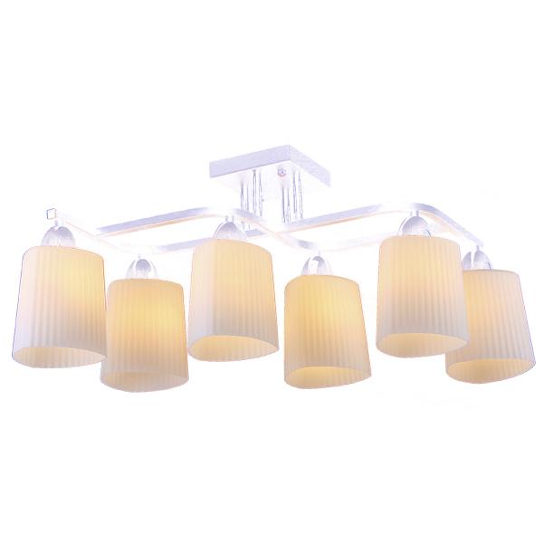 Люстра Natali kovaltsevaЛюстры<br>Назначение светильника: для гостиной,<br>Стиль светильника: модерн,<br>Тип: потолочная,<br>Материал светильника: металл, стекло,<br>Материал плафона: стекло,<br>Материал арматуры: металл,<br>Длина (мм): 670,<br>Ширина: 250,<br>Высота: 280,<br>Количество ламп: 6,<br>Тип лампы: накаливания,<br>Мощность: 60,<br>Патрон: Е27,<br>Цвет арматуры: хром<br>