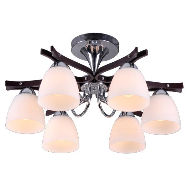 Люстра Natali kovaltsevaЛюстры<br>Назначение светильника: для гостиной,<br>Стиль светильника: модерн,<br>Тип: потолочная,<br>Материал светильника: металл, стекло,<br>Материал плафона: стекло,<br>Материал арматуры: металл,<br>Диаметр: 580,<br>Высота: 280,<br>Количество ламп: 6,<br>Тип лампы: накаливания,<br>Мощность: 60,<br>Патрон: Е27,<br>Цвет арматуры: хром<br>