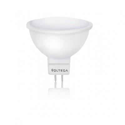 Лампа светодиодная VoltegaЛампы<br>Тип лампы: светодиодная, Форма лампы: рефлекторная, Цвет колбы: белая, Тип цоколя: GU10, Мощность: 5, Цветовая температура: 2800, Цвет свечения: теплый<br>
