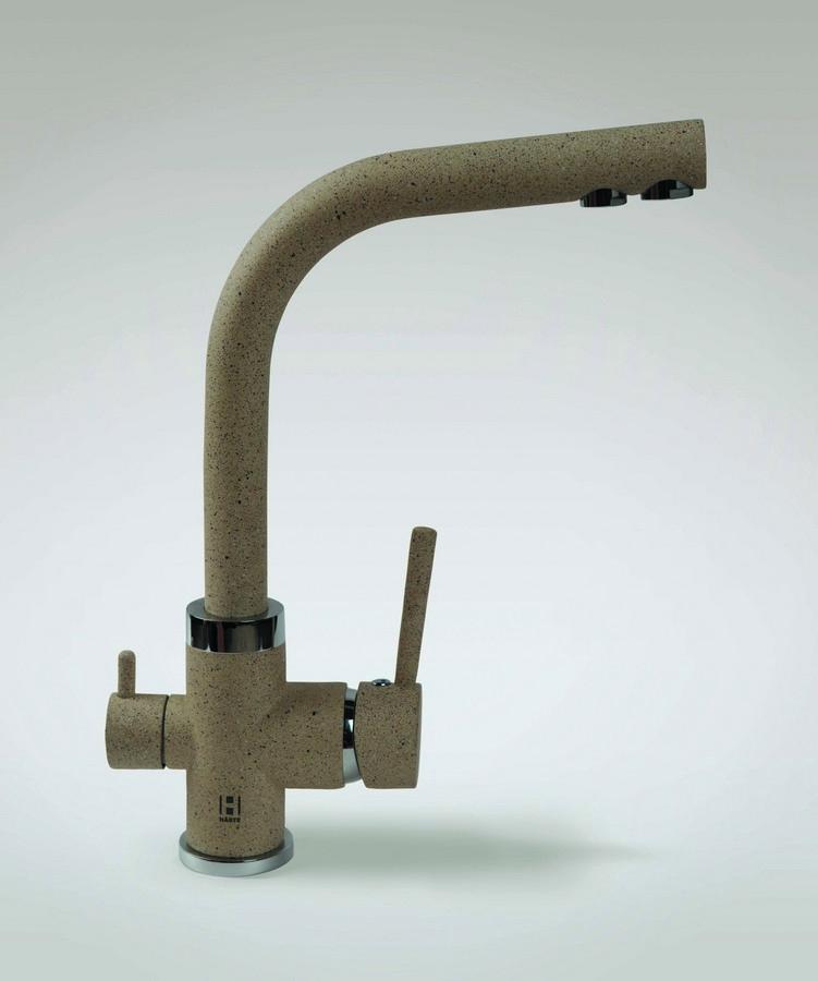 Смеситель HarteСмесители<br>Назначение смесителя: для кухонной мойки,<br>Тип управления смесителя: однорычажный,<br>Цвет покрытия: песочный,<br>Стиль смесителя: модерн,<br>Монтаж смесителя: горизонтальный,<br>Тип установки смесителя: на мойку (раковину),<br>Материал смесителя: латунь,<br>Излив: традиционный,<br>Поворотный излив: есть,<br>Родина бренда: Германия,<br>Длина (мм): 206,<br>Высота: 268<br>