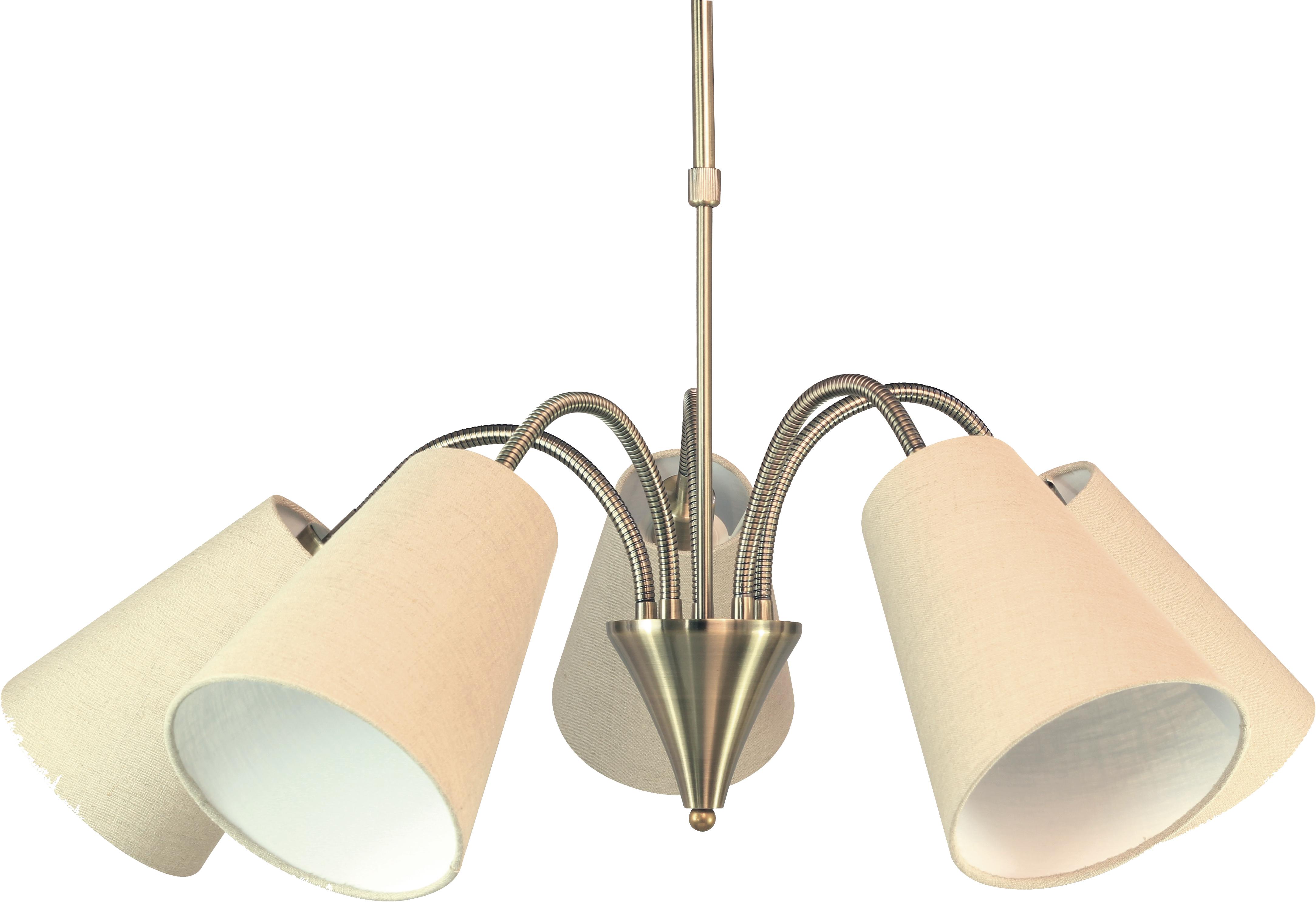 Люстра Lamplandia 1029-5 flex brass