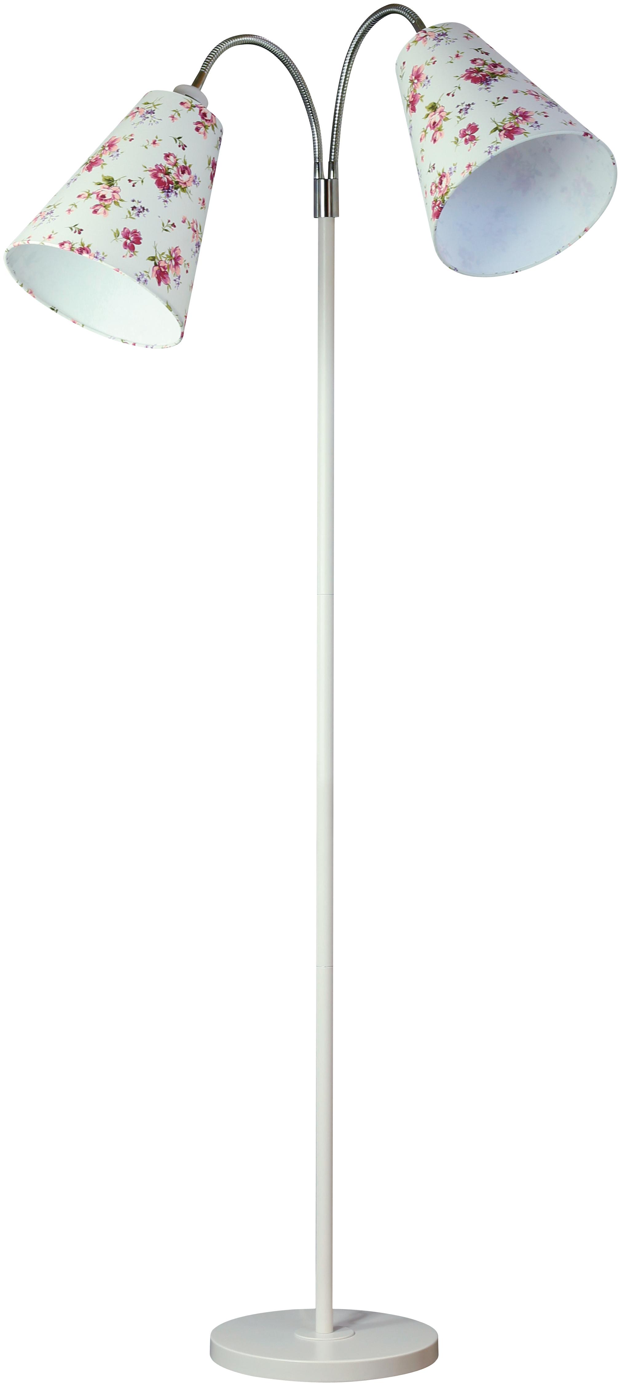 Торшер LamplandiaТоршеры<br>Стиль светильника: кантри,<br>Назначение светильника: для комнаты,<br>Материал светильника: металл,<br>Длина (мм): 400,<br>Ширина: 400,<br>Высота: 1700,<br>Количество ламп: 2,<br>Тип лампы: накаливания,<br>Мощность: 60,<br>Патрон: Е27,<br>Цвет арматуры: белый<br>