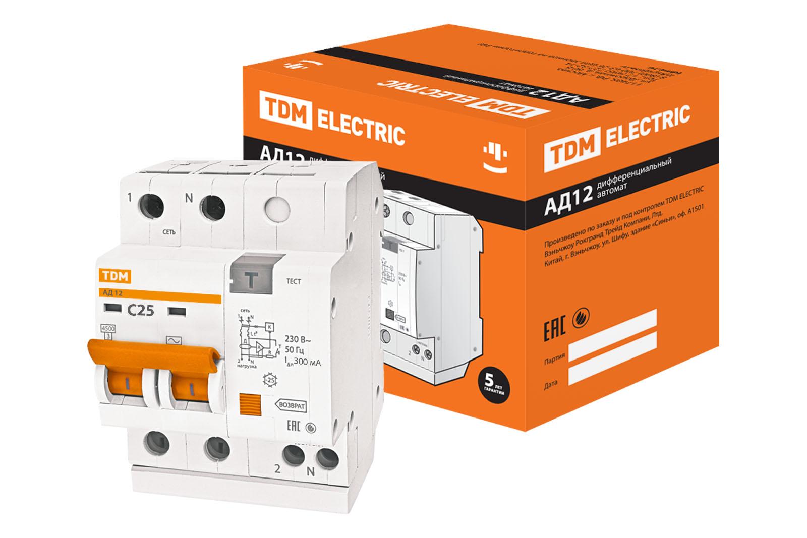 Автомат ТДМАвтоматические выключатели<br>Номинальный ток: 25,<br>Тип выключателя: автомат,<br>Номинальная отключающая способность: 0.3,<br>Степень защиты от пыли и влаги: IP 54<br>