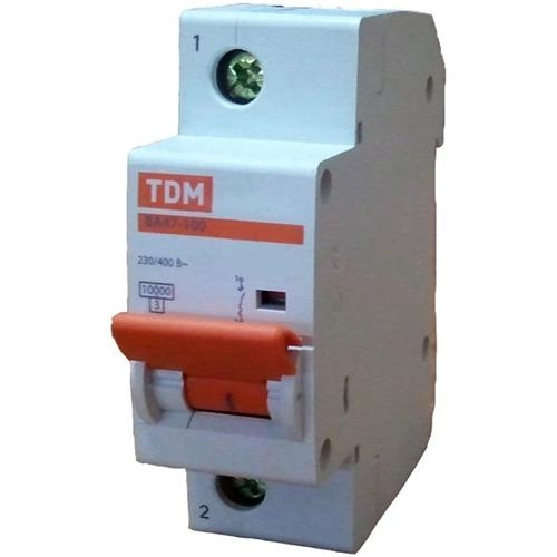 Автомат ТДМАвтоматические выключатели<br>Номинальный ток: 20,<br>Тип выключателя: автомат,<br>Номинальная отключающая способность: 10000,<br>Степень защиты от пыли и влаги: IP 20<br>