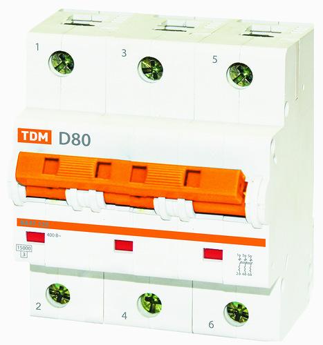 Автомат ТДМАвтоматические выключатели<br>Номинальный ток: 100,<br>Тип выключателя: автомат,<br>Номинальная отключающая способность: 15000,<br>Степень защиты от пыли и влаги: IP 20<br>