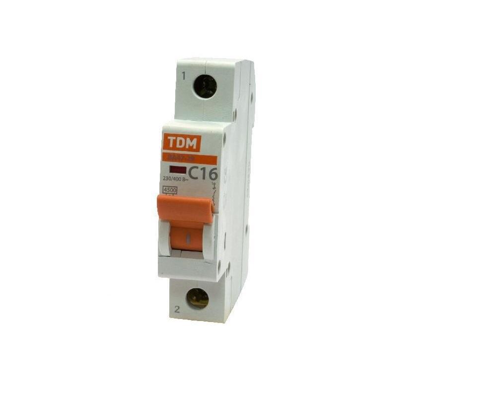 Автомат ТДМАвтоматические выключатели<br>Номинальный ток: 20,<br>Тип выключателя: автомат,<br>Номинальная отключающая способность: 4500,<br>Степень защиты от пыли и влаги: IP 20<br>
