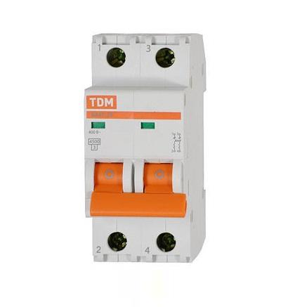 Автомат ТДМАвтоматические выключатели<br>Номинальный ток: 1, Тип выключателя: автомат, Номинальная отключающая способность: 4500, Степень защиты от пыли и влаги: IP 20<br>