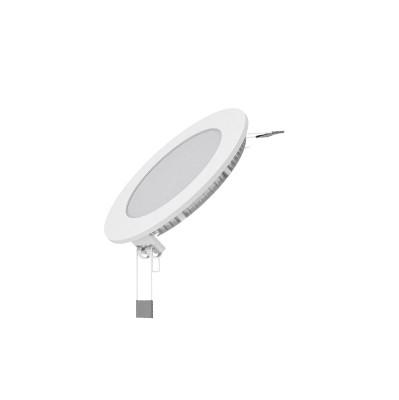 Светильник встраиваемый GaussСветильники встраиваемые<br>Стиль светильника: современный, Диаметр: 145, Форма светильника: круг, Материал светильника: пластик, стекло, Количество ламп: 1, Тип лампы: светодиодная, Мощность: 9, Патрон: LED, Цвет арматуры: белый, Назначение светильника: для производственных помещений<br>