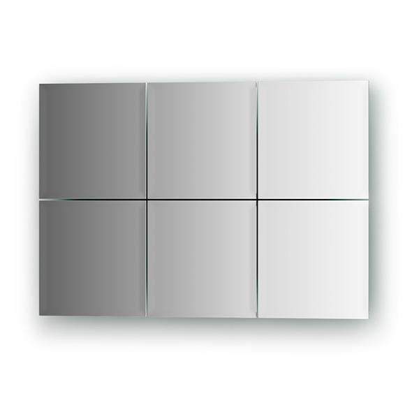 Зеркальная плитка EvoformЗеркала<br>Высота: 150,<br>Ширина: 150,<br>Форма зеркала: квадрат,<br>Назначение: для ванной, прихожей, гостиной<br>