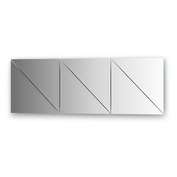 Зеркальная плитка EvoformЗеркала<br>Высота: 300,<br>Ширина: 300,<br>Форма зеркала: треугольник,<br>Назначение: для ванной, прихожей, гостиной<br>