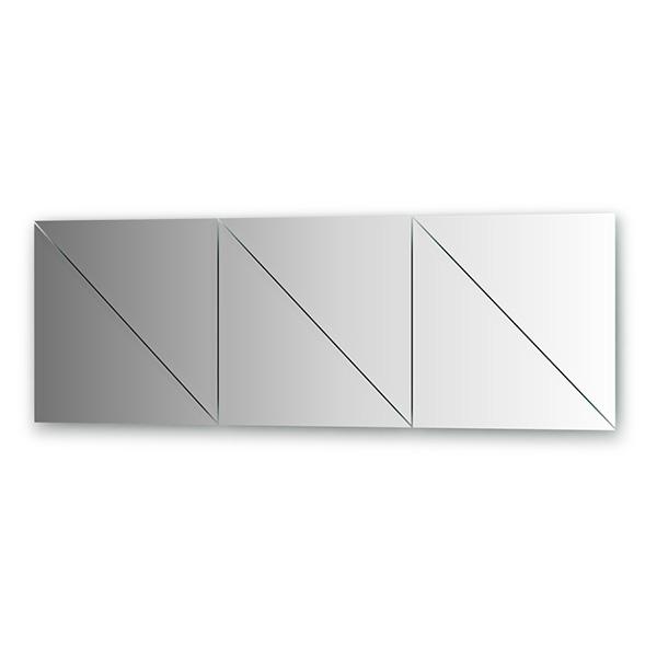 Зеркальная плитка EvoformЗеркала<br>Высота: 500,<br>Ширина: 500,<br>Форма зеркала: треугольник,<br>Назначение: для ванной, прихожей, гостиной<br>