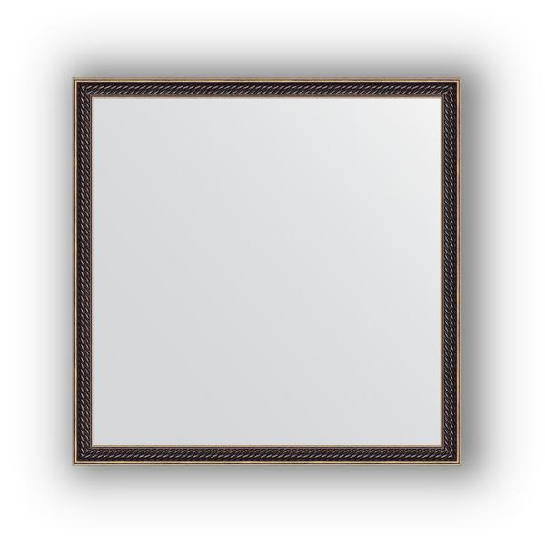 Зеркало EvoformЗеркала<br>Высота: 580,<br>Ширина: 580,<br>Форма зеркала: квадрат,<br>Назначение: для ванной, прихожей, гостиной,<br>Зеркало в багете: есть,<br>Цвет рамы: витой махагон,<br>Коллекция: DEFINITE<br>
