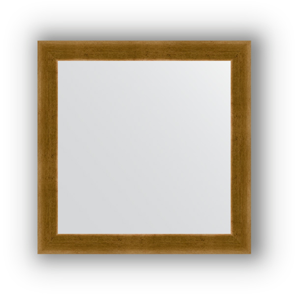 Зеркало EvoformЗеркала<br>Высота: 640, Ширина: 640, Форма зеркала: квадрат, Назначение: для ванной, прихожей, гостиной, Зеркало в багете: есть, Цвет рамы: травленое золото, Коллекция: DEFINITE<br>