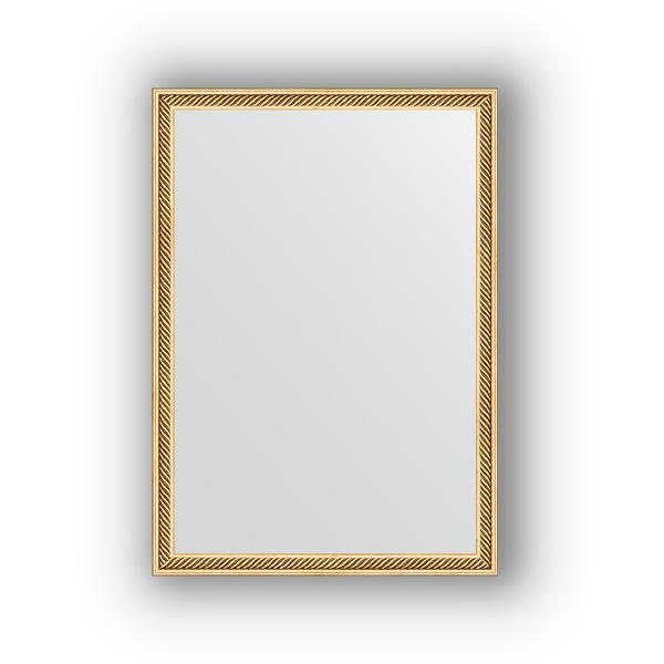 Зеркало EvoformЗеркала<br>Высота: 480,<br>Ширина: 680,<br>Форма зеркала: прямоугольник,<br>Назначение: для ванной, прихожей, гостиной,<br>Зеркало в багете: есть,<br>Цвет рамы: витое золото,<br>Коллекция: DEFINITE<br>
