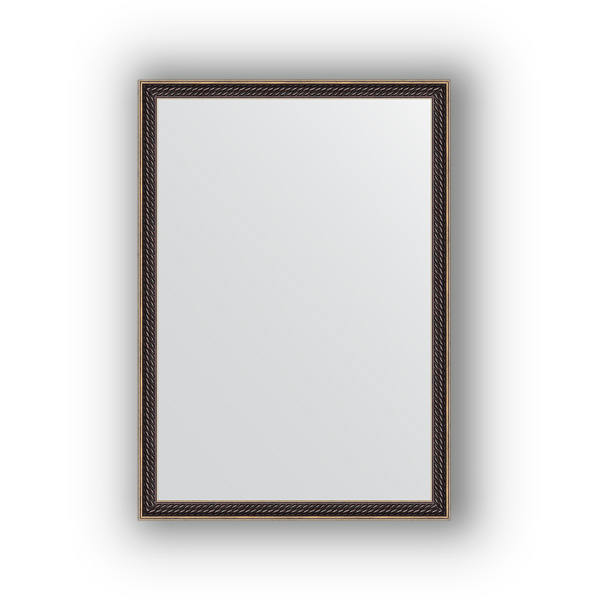 Зеркало EvoformЗеркала<br>Высота: 480,<br>Ширина: 680,<br>Форма зеркала: прямоугольник,<br>Назначение: для ванной, прихожей, гостиной,<br>Зеркало в багете: есть,<br>Цвет рамы: витой махагон,<br>Коллекция: DEFINITE<br>