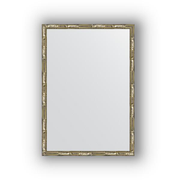 Зеркало EvoformЗеркала<br>Высота: 470,<br>Ширина: 670,<br>Форма зеркала: прямоугольник,<br>Назначение: для ванной, прихожей, гостиной,<br>Зеркало в багете: есть,<br>Цвет рамы: серебро бамбук,<br>Коллекция: DEFINITE<br>