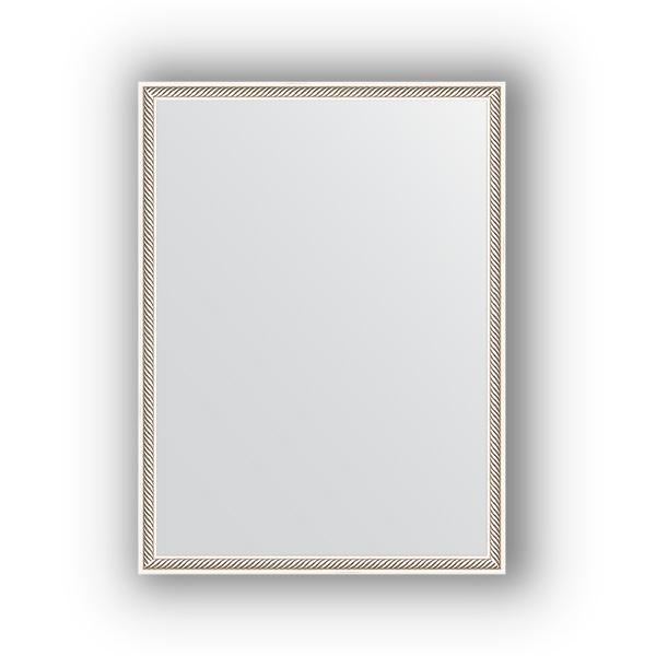 Зеркало EvoformЗеркала<br>Высота: 580, Ширина: 780, Форма зеркала: прямоугольник, Назначение: для ванной, прихожей, гостиной, Зеркало в багете: есть, Цвет рамы: витое серебро, Коллекция: DEFINITE<br>