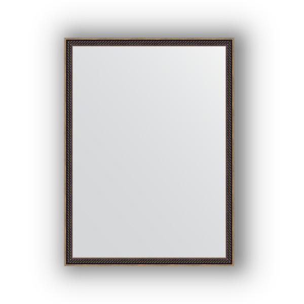 Зеркало EvoformЗеркала<br>Высота: 580,<br>Ширина: 780,<br>Форма зеркала: прямоугольник,<br>Назначение: для ванной, прихожей, гостиной,<br>Зеркало в багете: есть,<br>Цвет рамы: витой махагон,<br>Коллекция: DEFINITE<br>