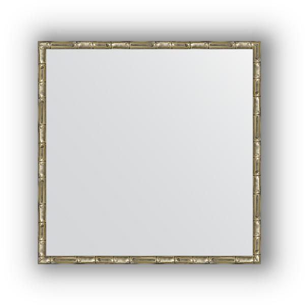Зеркало EvoformЗеркала<br>Высота: 670,<br>Ширина: 670,<br>Форма зеркала: квадрат,<br>Назначение: для ванной, прихожей, гостиной,<br>Зеркало в багете: есть,<br>Цвет рамы: серебро бамбук,<br>Коллекция: DEFINITE<br>