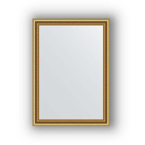 Зеркало EvoformЗеркала<br>Высота: 520,<br>Ширина: 720,<br>Форма зеркала: прямоугольник,<br>Назначение: для ванной, прихожей, гостиной,<br>Зеркало в багете: есть,<br>Цвет рамы: бусы золотые,<br>Коллекция: DEFINITE<br>