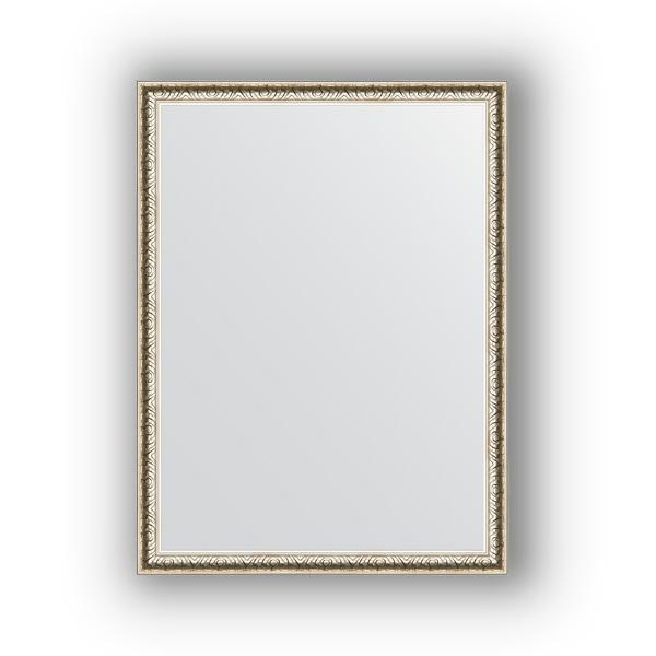 Зеркало EvoformЗеркала<br>Высота: 610, Ширина: 810, Форма зеркала: прямоугольник, Назначение: для ванной, прихожей, гостиной, Зеркало в багете: есть, Цвет рамы: мельхиор, Коллекция: DEFINITE<br>