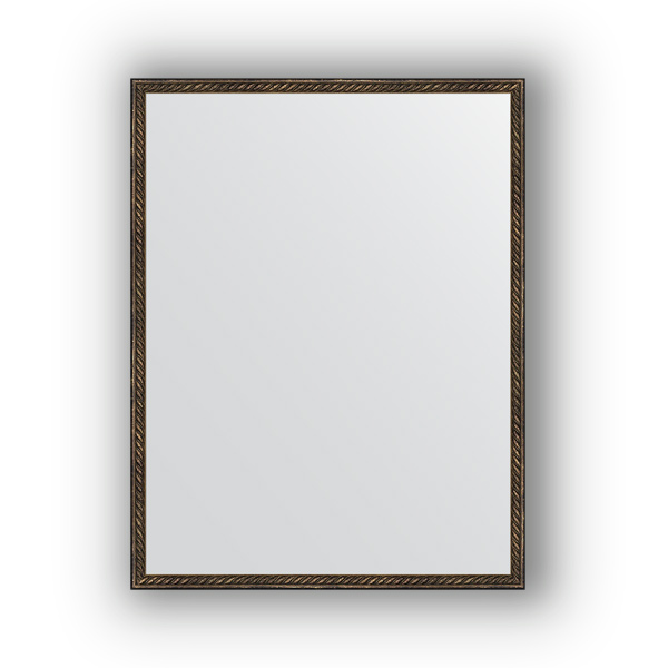 Зеркало EvoformЗеркала<br>Высота: 680,<br>Ширина: 880,<br>Форма зеркала: прямоугольник,<br>Назначение: для ванной, прихожей, гостиной,<br>Зеркало в багете: есть,<br>Цвет рамы: витая бронза,<br>Коллекция: DEFINITE<br>