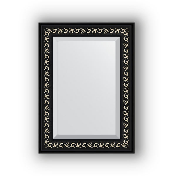 Зеркало EvoformЗеркала<br>Высота: 550, Ширина: 750, Форма зеркала: прямоугольник, Назначение: для ванной, прихожей, гостиной, Зеркало в багете: есть, Цвет рамы: черный ардеко, Коллекция: EXCLUSIVE<br>