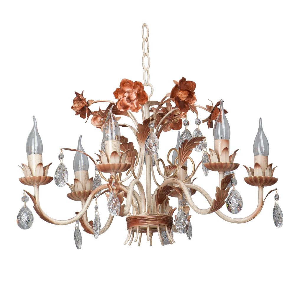 Люстра VitaluceЛюстры<br>Назначение светильника: для гостиной,<br>Стиль светильника: флористика,<br>Тип: подвесная,<br>Материал светильника: металл, стекло,<br>Материал арматуры: металл,<br>Диаметр: 750,<br>Высота: 970,<br>Количество ламп: 6,<br>Тип лампы: накаливания,<br>Мощность: 60,<br>Патрон: Е14,<br>Цвет арматуры: дерево<br>