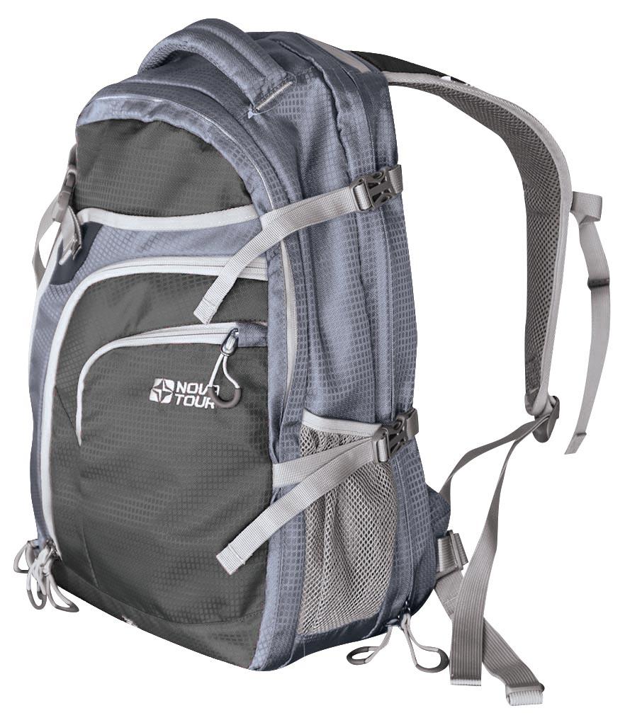 Рюкзак Nova tourРюкзаки<br>Назначение рюкзака: туристический,<br>Тип конструкции: анатомический,<br>Тип: рюкзак,<br>Объем: 40,<br>Число лямок: 2,<br>Высота: 500,<br>Ширина: 310,<br>Толщина: 230,<br>Материал: полиэстер,<br>Цвет: серый,<br>Боковые карманы: есть,<br>Фронтальный карман: есть,<br>Боковая стяжка: есть,<br>Грудная стяжка: есть<br>