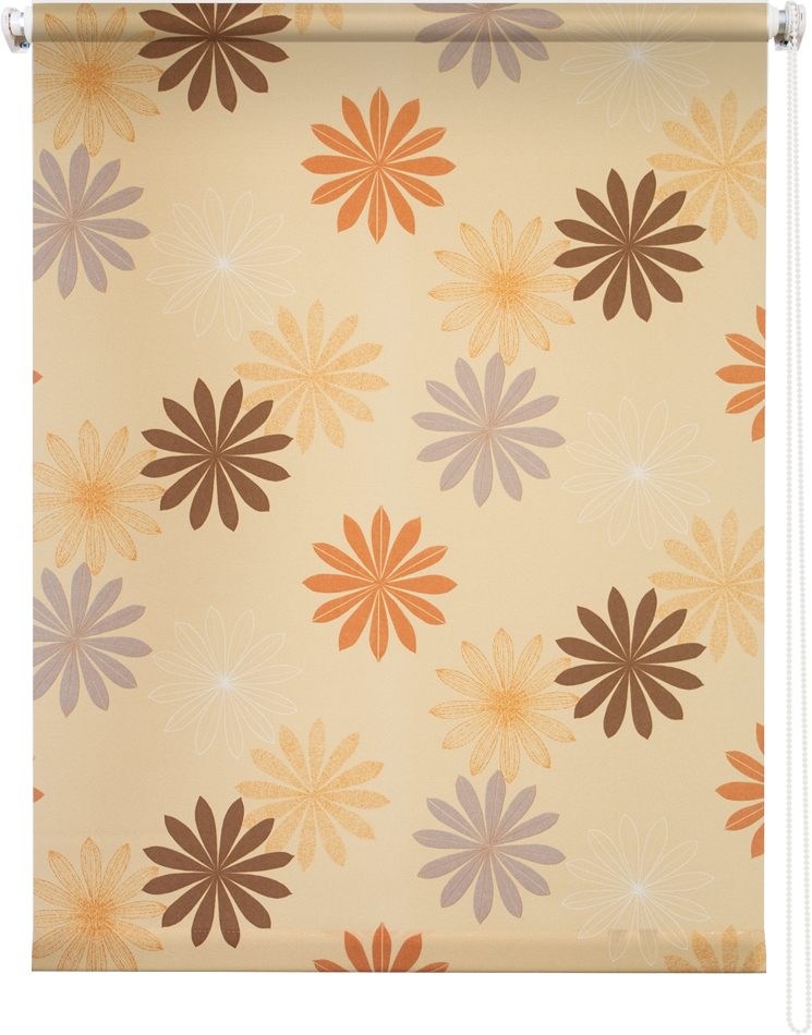 Рулонная штора УЮТ 90х175 Космея оранжевый