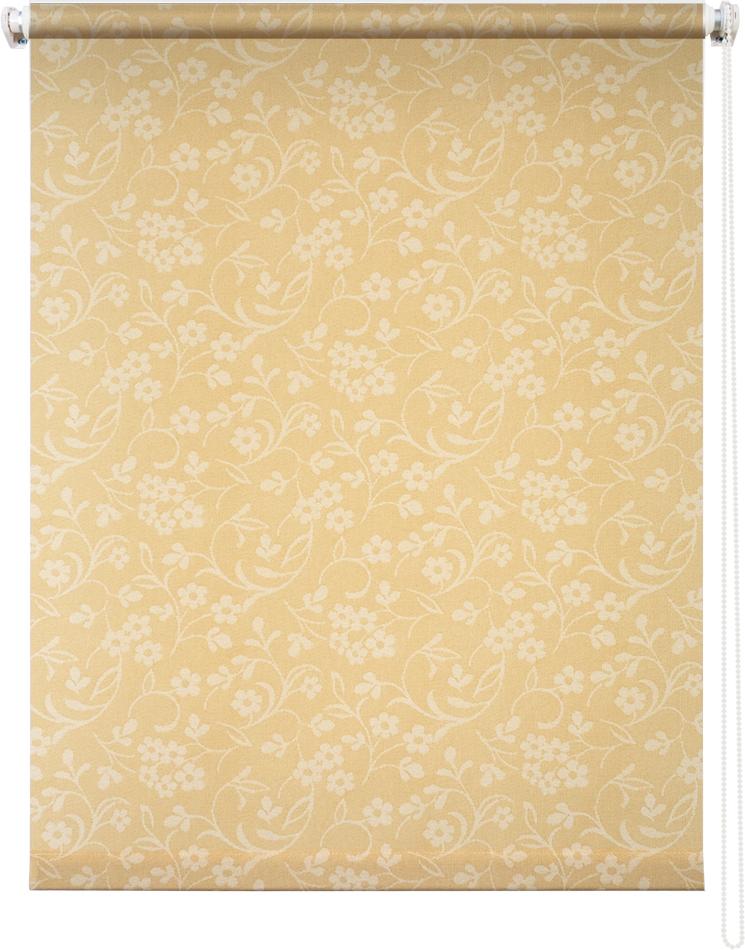 Рулонная штора УЮТРулонные шторы<br>Коллекция: Моравия, Материал: полиэстер, Цвет: желтый, Размеры: 500х1750, Ширина: 500, Высота (см): 175<br>