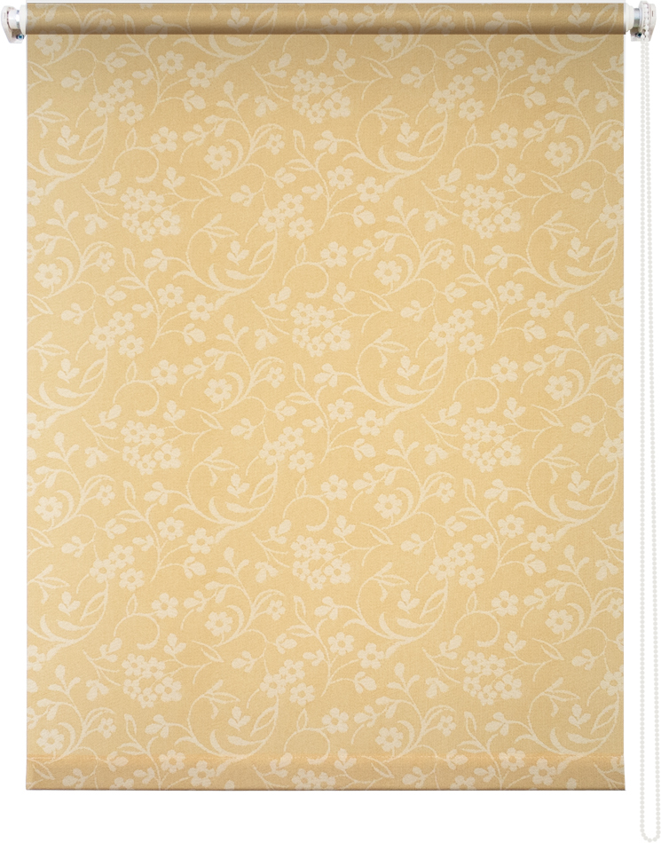 Рулонная штора УЮТРулонные шторы<br>Коллекция: Моравия, Материал: полиэстер, Цвет: желтый, Размеры: 1400х1750, Ширина: 1400, Высота (см): 175<br>
