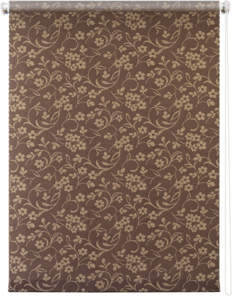Рулонная штора УЮТРулонные шторы<br>Коллекция: Моравия, Материал: полиэстер, Цвет: коричневый, Размеры: 500х1750, Ширина: 500, Высота (см): 175<br>