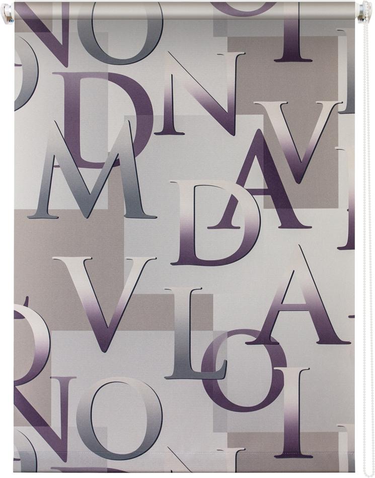 Рулонная штора УЮТ 180х175 Скрипт серый