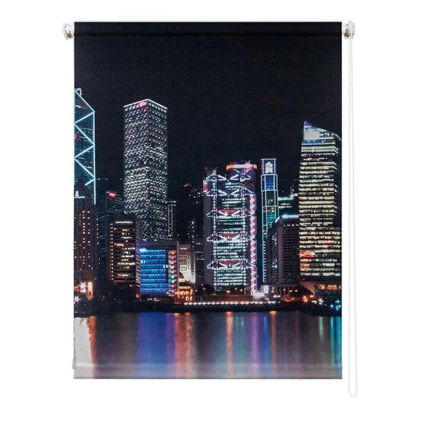 Рулонная штора УЮТРулонные шторы<br>Коллекция: Сити, Материал: полиэстер, Цвет: черный, Размеры: 800х1750, Ширина: 800, Высота (см): 175<br>